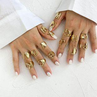 New 26 English alphabet ring fashion street shooting opening adjustable metal ring women NHOT200409's discount tags