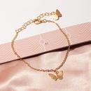 Fashion Jewelry Wholesale Single Layer Butterfly Bracelet Sweet Butterfly Pendant Bracelet NHNZ200417