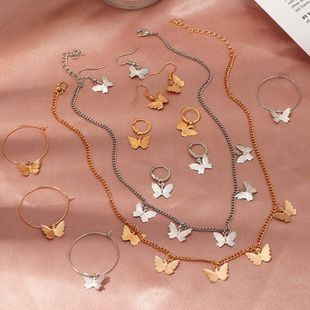 Fashion women's necklace wholesale new hot sale butterfly necklace simple alloy butterfly pendant clavicle chain women NHNZ200418's discount tags
