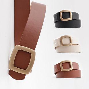 New women's belt snap casual wide jeans belt coat coat decorative belt women NHPO200421's discount tags