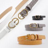 Korean fashion stone pattern decorative jeans dress women's belt NHPO200423