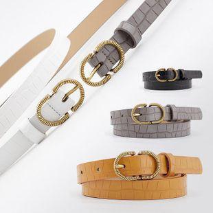 Korean fashion stone pattern decorative jeans dress women's belt NHPO200423's discount tags