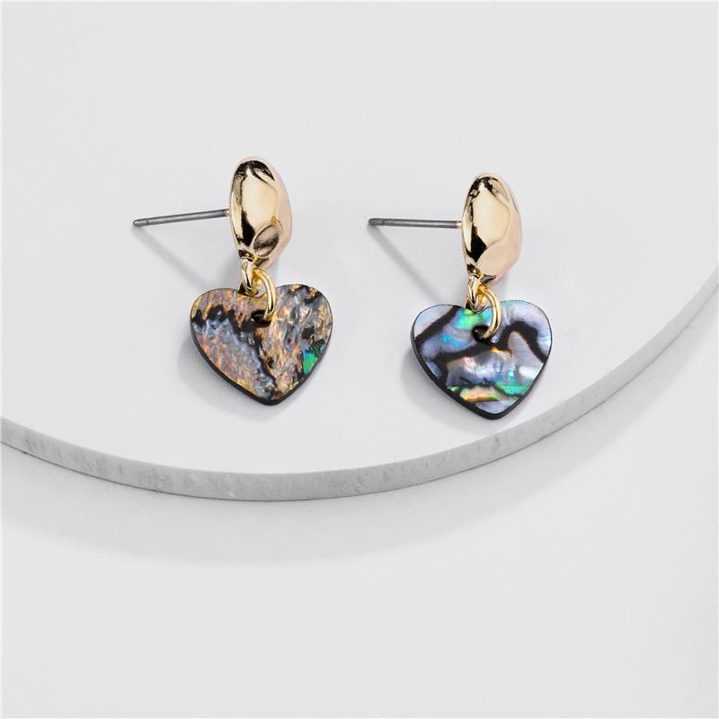Fashion women's earring wholesale earrings natural pearl abalone shell stone female earrings new NHLU200438