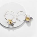 Fashion womens earring wholesale earrings natural pearl abalone shell stone female earrings new NHLU200438