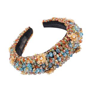 Palace gorgeous light luxury headband fashion crystal beaded fabric headband hair accessories wholesale NHMD200443's discount tags