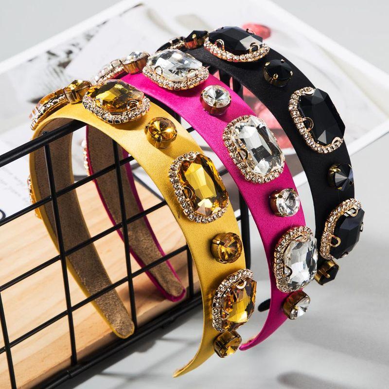 Baroque aristocratic wind-mounted glass diamond cloth new headband ultra flash headband NHLN200453