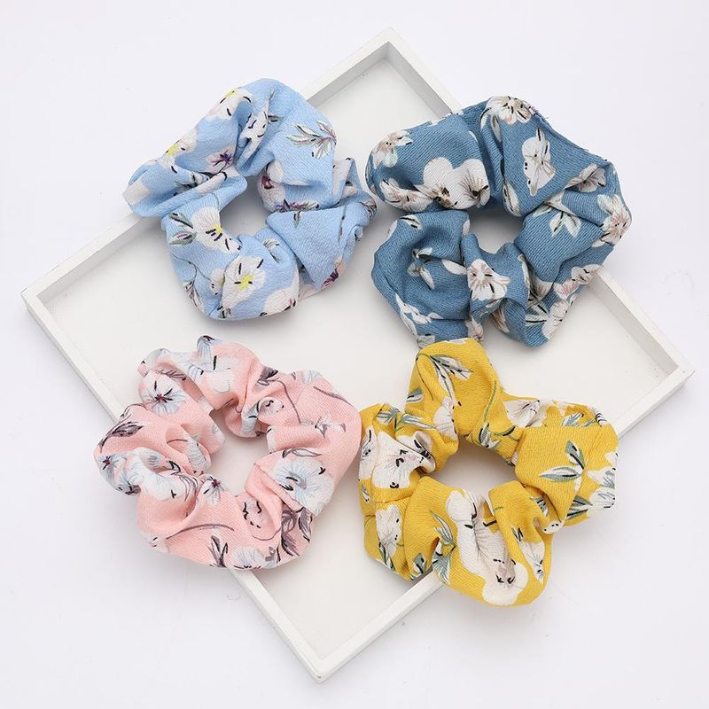 Spring fashion new creative chinese style flower flower cloth hair ring wholesale NHJE200457