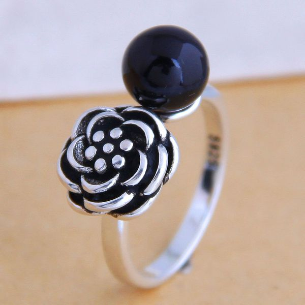 Fashion jewelry Fashion Vintage Rose Open Ring Simple Ring Wholesale NHSC200904