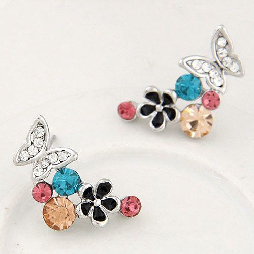 Fashion jewelry Korean Fashion Sweet Butterfly Dance Flower Earrings Wholesale NHSC200890