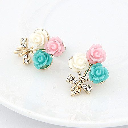 Fashion jewelry Korean fashion colorful shell flower earrings wholesale NHSC200888