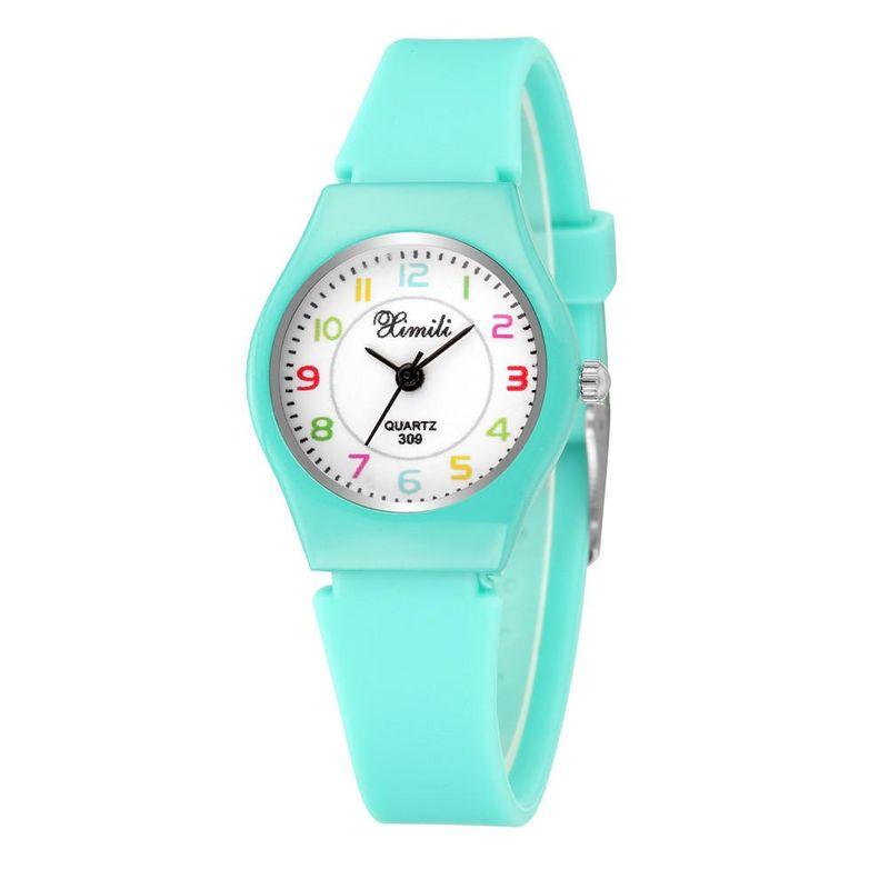New Candy-colored Silicone Children's Watch Cute Digital Face Quartz Watch NHSS200483
