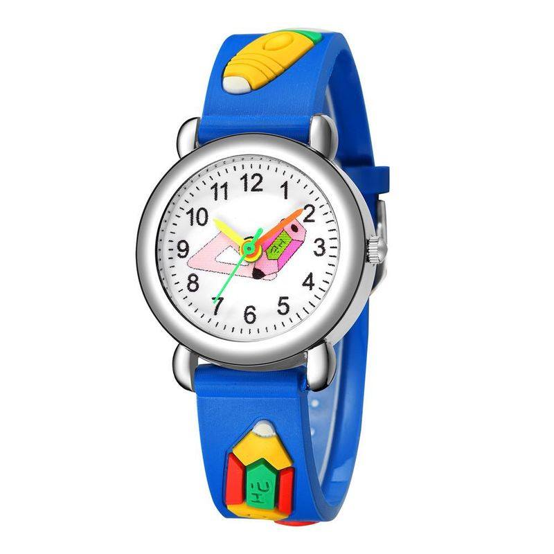 Children's Watch Cute Pencil Pattern Plastic Band Quartz Watch Color Pointer Watch NHSS200484