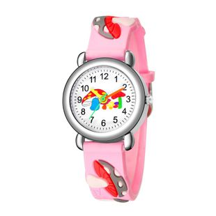 Cute mushroom pattern plastic band quartz watch children watch pattern gift watch NHSS200486's discount tags