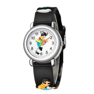 Bump band children's watch cute football pattern plastic band sports watch NHSS200488's discount tags
