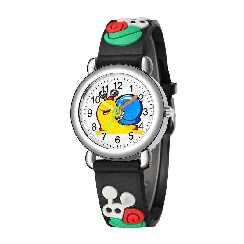 Embossed concave plastic band student watch cute snail pattern children watch NHSS200489