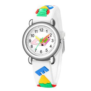 Cute colored pointer pencil pattern plastic band quartz watch embossed pencil children's watch wholesale NHSS200493's discount tags
