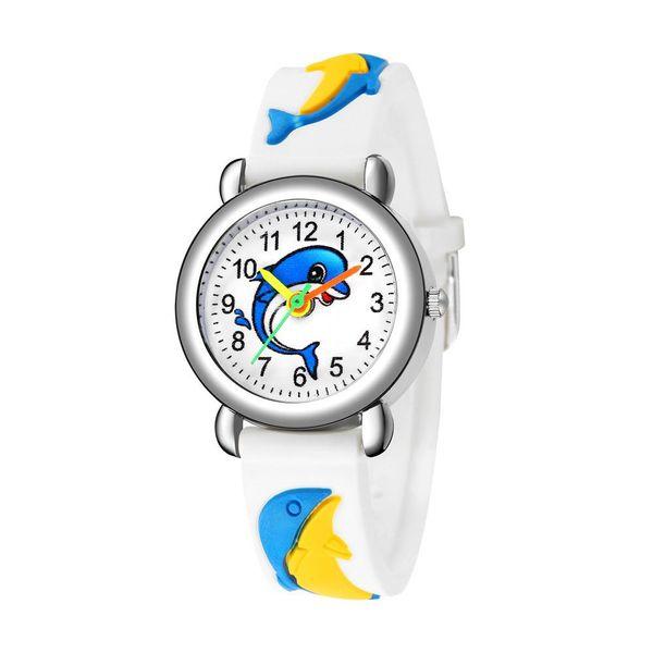 Cute dolphin pattern quartz watch plastic band children watch wholesale NHSS200498