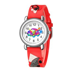 New children's watch cute colored car pattern quartz watch colored plastic band watch NHSS200499's discount tags