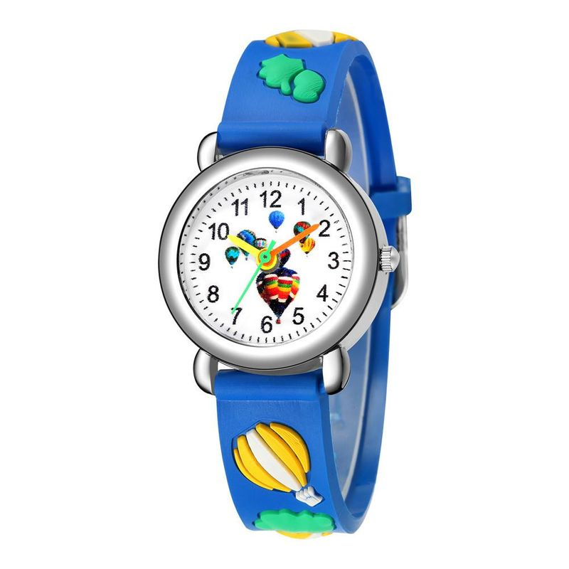 Cute hot air balloon plastic band quartz watch embossed color band children watch wholesale NHSS200500