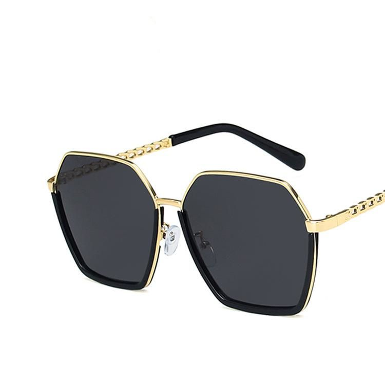 Irregular Polygon Sunglasses Half Frame Twist Mirror Legs UV-proof Street Shooting Korean Sunglasses NHKD200482