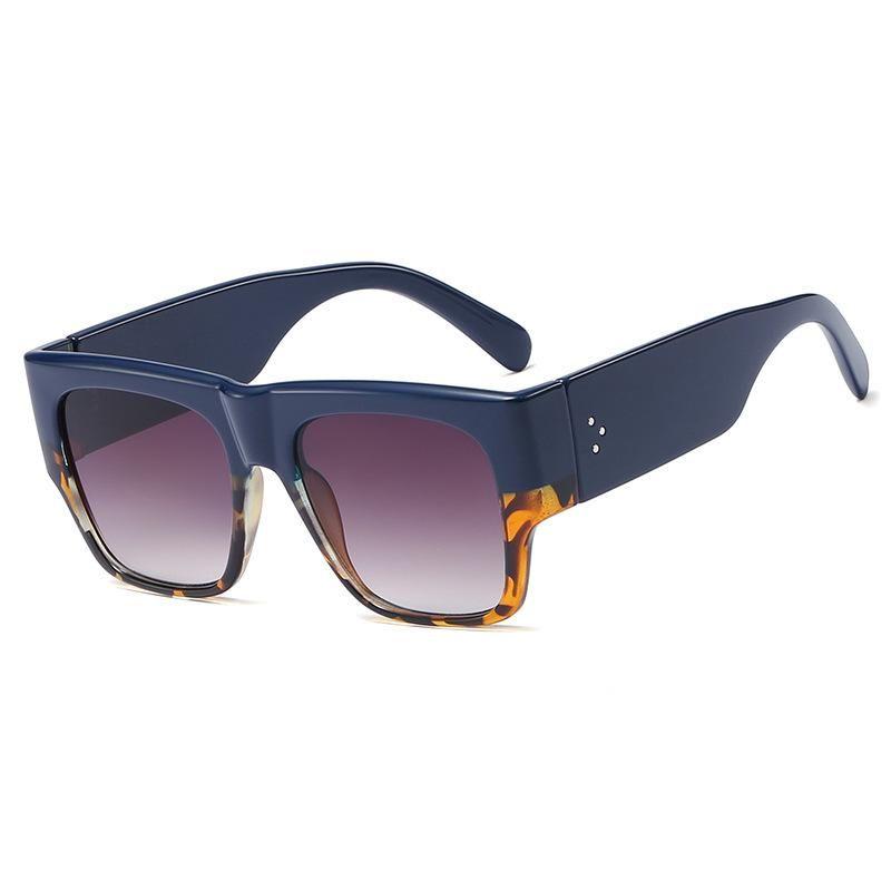 New Rivet Fashion Square Sunglasses Women Fashion Big Frame Sunglasses Wholesale NHFY200460