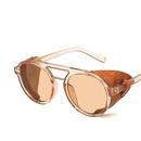 Double beam retro round sunglasses new Korean sunglasses hiphop street photography sunglasses NHKD200478