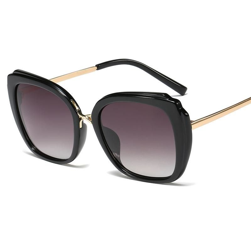 New Fashion Square Sunglasses Women Fashion Cat Ear Metal Leg Sunglasses Men Wild Large Frame Glasses NHFY200473