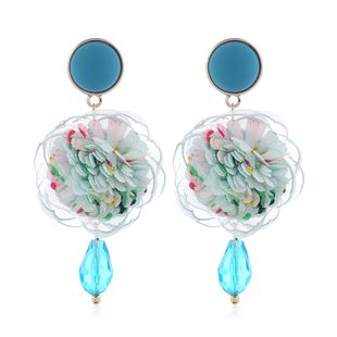 Korean Fashion Sweet Simple Rose Drop Earrings Fahsion jewelry Wholesale NHSC200880's discount tags