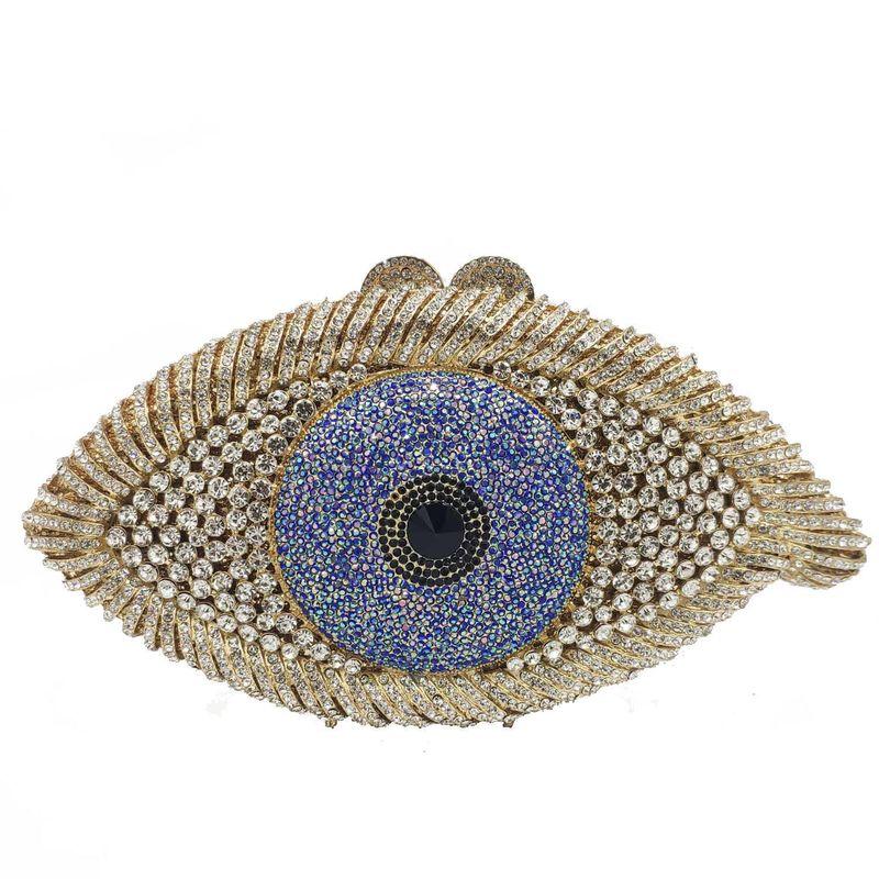 New Fashion Dinner Bag Eyes Diamond Party Bag Devil's Eye Rhinestone Clutch NHJU200502
