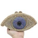 New Fashion Dinner Bag Eyes Diamond Party Bag Devils Eye Rhinestone Clutch NHJU200502