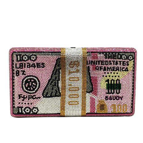Fashion women's bag new fashion flat diamond pink dollar bag dollar clutch bag banquet bag NHJU200511's discount tags