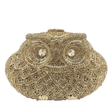 Fashion women's bag new party clutch animal owl dinner bag rhinestone women bag NHJU200603's discount tags