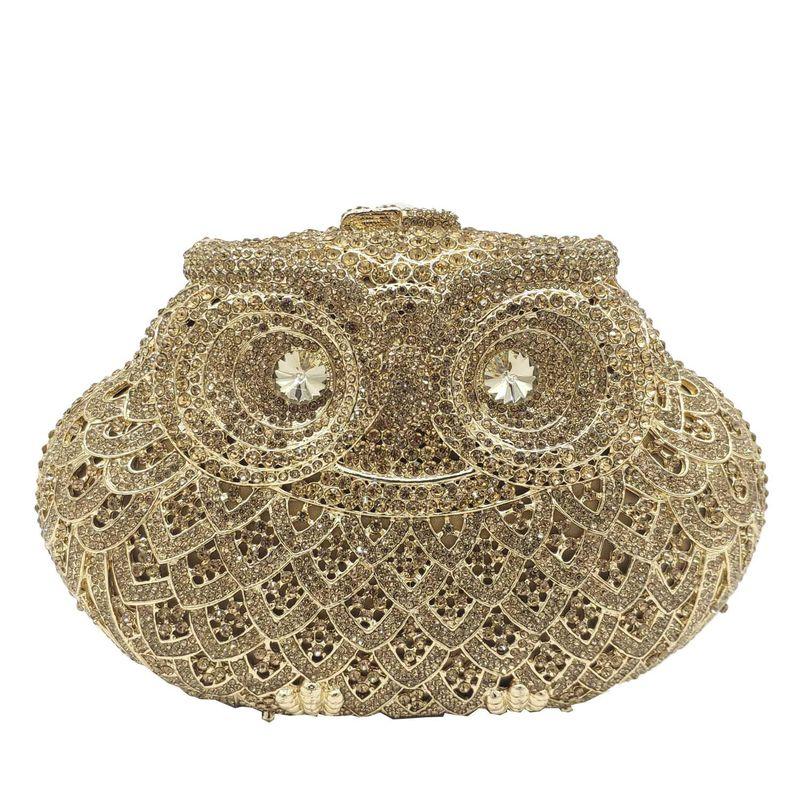 Fashion women's bag new party clutch animal owl dinner bag rhinestone women bag NHJU200603