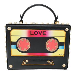 New fashion handbag rivet tape printed box diagonal bag small square bag NHJU200607's discount tags