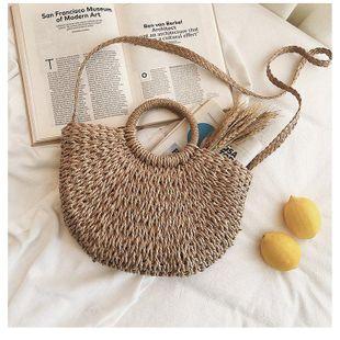 New fashion woven bag vacation travel bag ladies beach bag hand ladle shoulder messenger bag NHGA200625's discount tags