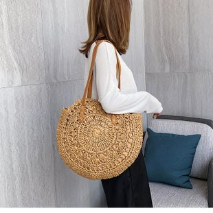 Holiday bag female messenger straw bag summer woven beach bag new shoulder bag NHGA200633's discount tags