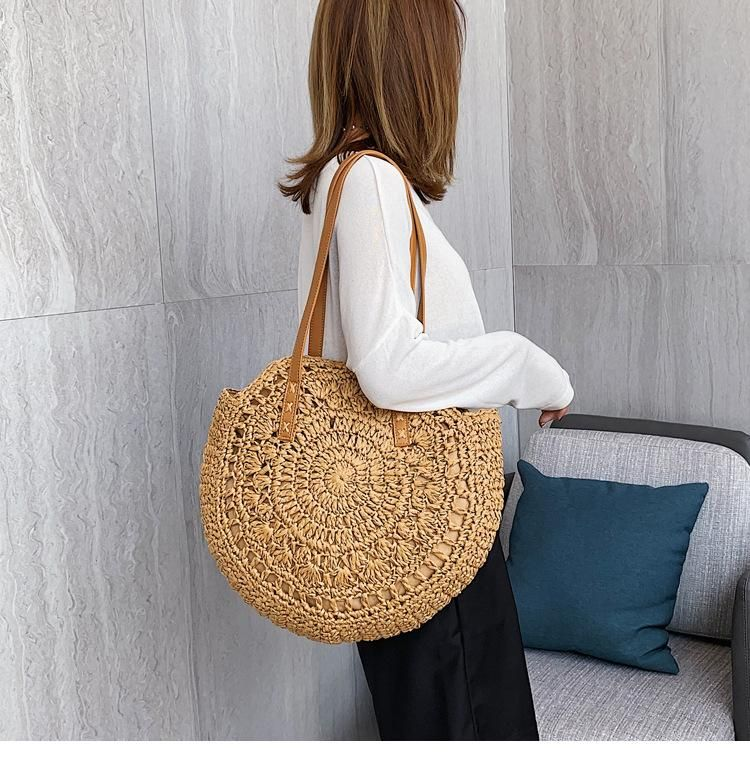 Holiday bag female messenger straw bag summer woven beach bag new shoulder bag NHGA200633