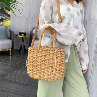 New summer straw bag cotton rope hand-woven beach bag shoulder messenger vacation women bag NHGA200639's discount tags