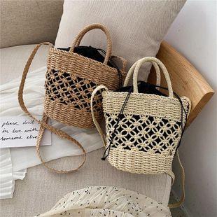 Woven bag summer new hollow handmade beach bag simple portable straw bag NHGA200640's discount tags