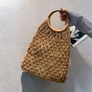 Woven Net Bag Summer New Woven Bag Hollow Straw Bag Vacation Beach Bag Handbag NHGA200657's discount tags