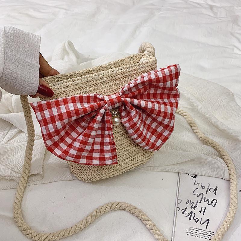 Summer new children's straw bag messenger bag cute girls accessories mini coin purse NHGA200658