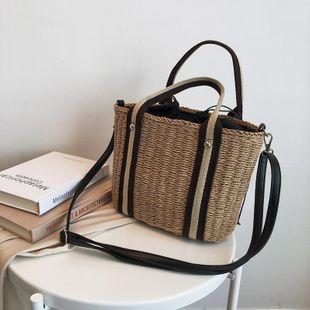 Straw bag shoulder messenger bag beach bag new summer rattan bag bucket bag NHGA200660's discount tags