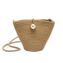 Summer new straw bag Korean fashion woven shoulder Messenger bag vacation beach handbag NHGA200669