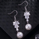 Exquisite Korean fashion sweet OL inlaid zircon pearl wild earrings NHSC200876