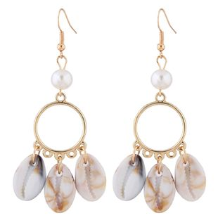 Fashion Metallic Simple Seashell Earrings Fahsion jewelry Wholesale NHSC200875's discount tags