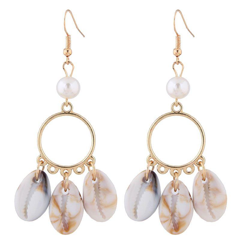Fashion Metallic Simple Seashell Earrings Fahsion jewelry Wholesale NHSC200875