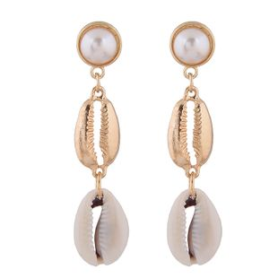 Fashion jewelry fashion metal simple wild seashell earrings wholesale NHSC200874's discount tags