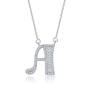 Fashionable 26 Letter Pendant Necklace in Sterling Silver NHKL200793's discount tags