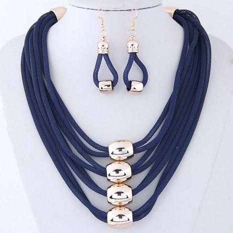 Accessoires de mode en métal exagéré collier tempérament collier et boucles d'oreilles NHSC200864's discount tags