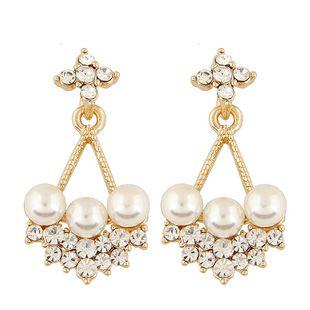 Joyas de moda coreana moda dulce OL flash diamante pendientes simples NHSC200862's discount tags